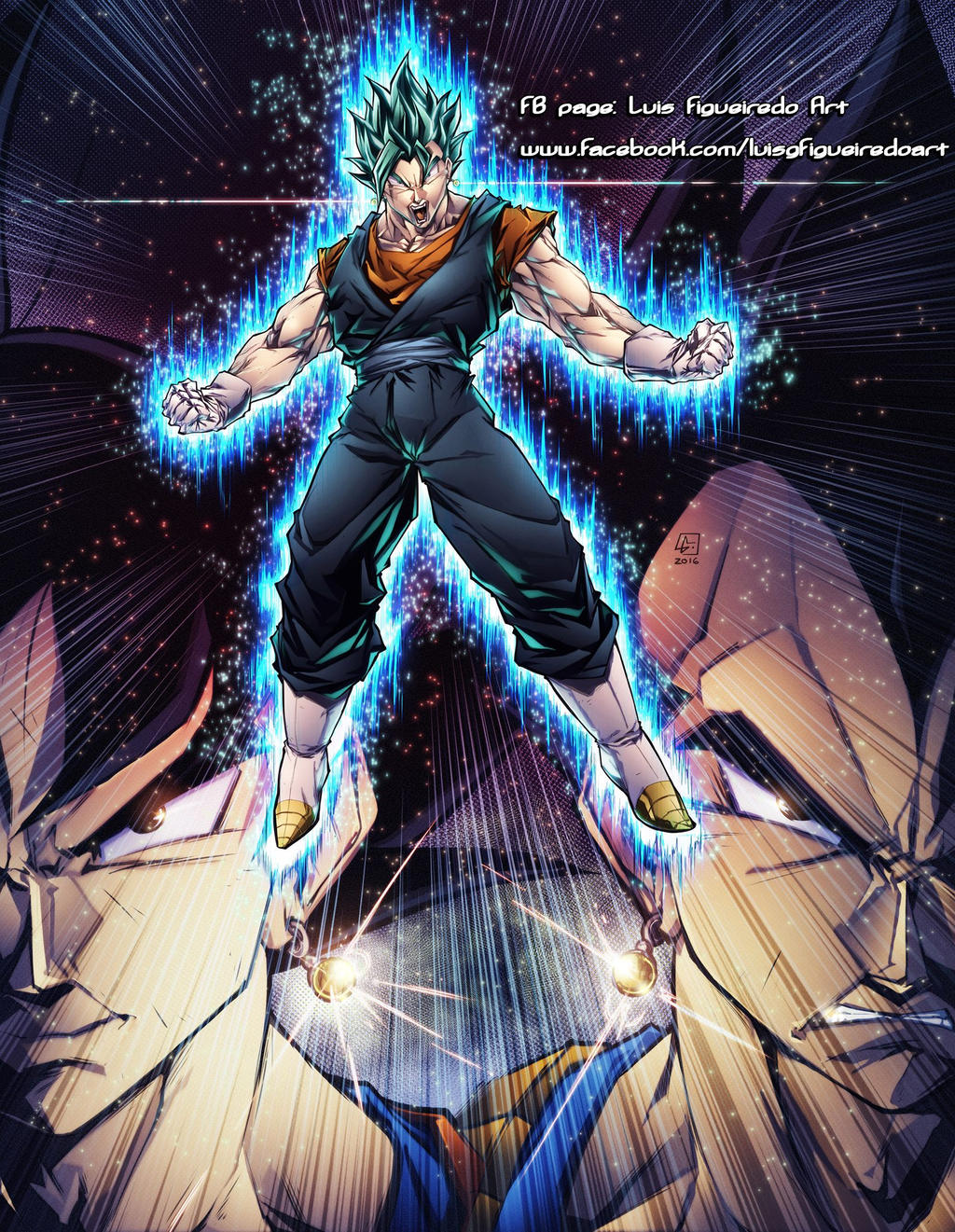 VEGITO SUPER SAIYAN GOD colored by marvelmania