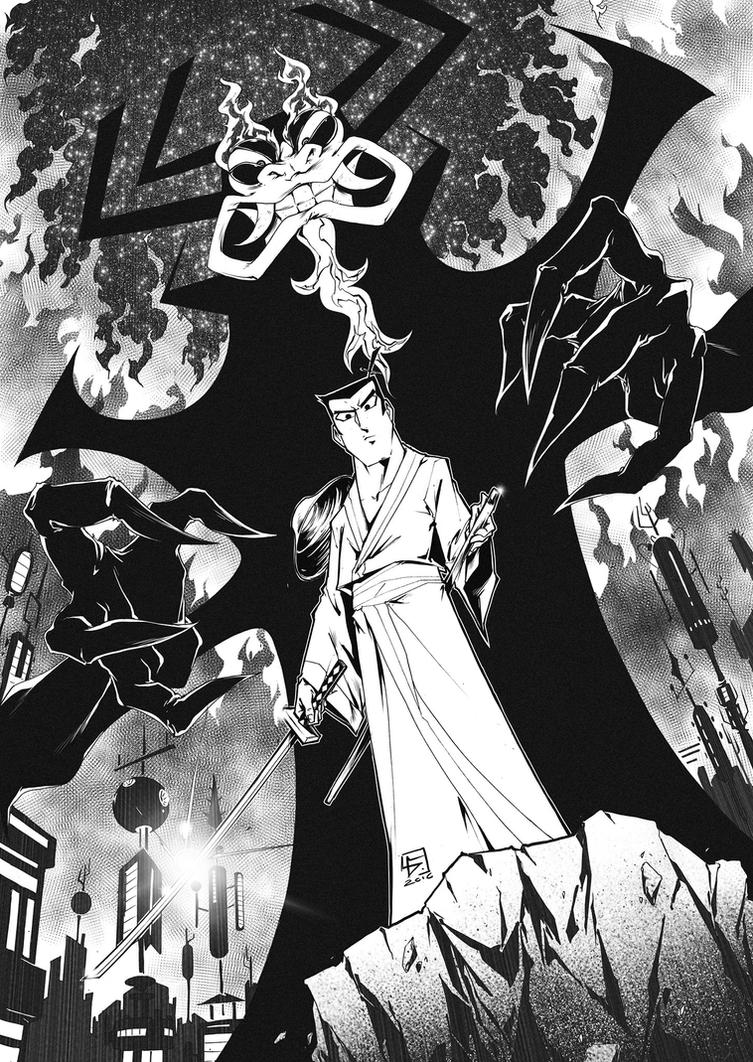 SAMURAI JACK vs AKU!!! by marvelmania