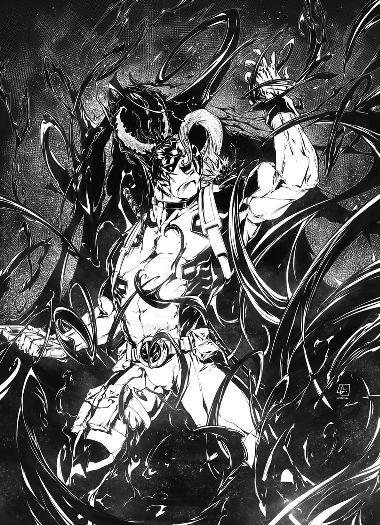 VENOM and DEADPOOL Commission by marvelmania
