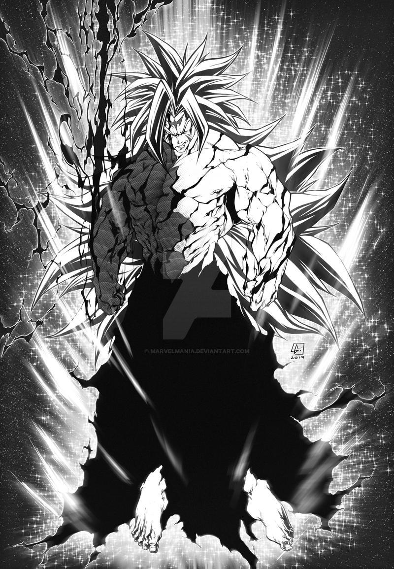 COMMISSION SS5 Goku n Ichigo final form getsuga by marvelmania on ...