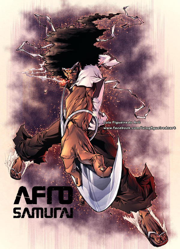 AFRO SAMURAI Commission color by marvelmania