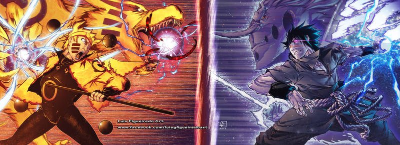 naruto vs sasuke commission by marvelmania on deviantart