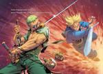 Zoro vs Trunks COLLAB color
