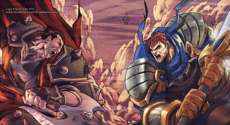 Darius Vs Garen Collab By Marvelmania