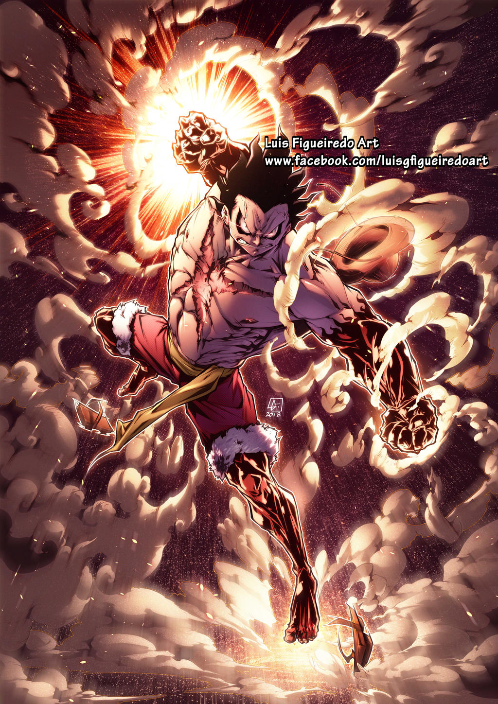 Luffy Gear 4 Snakeman From One Piece By Marvelmania On