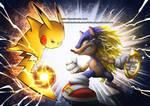 Pikachu vs Sonic Collab color