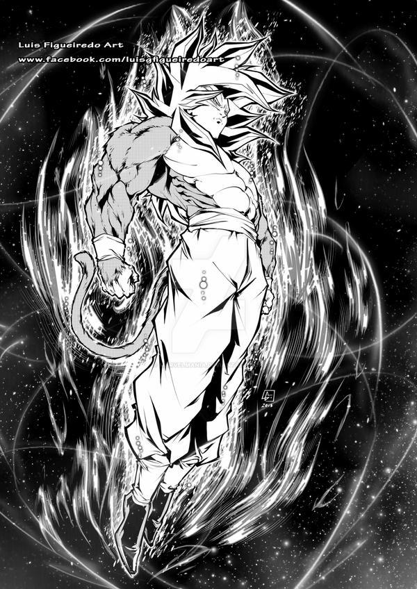 Goku SS4 Mastered Instinct cospy by marvelmania