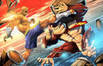 SAGAT (street Fighter) vs DONKEY KONG (Nintendo)