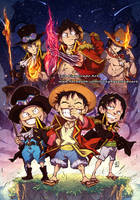 A.S.L Brothers - ACE, SABO , LUFFY -  One Piece by marvelmania
