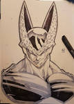 CELL from dragon ball traditional commission