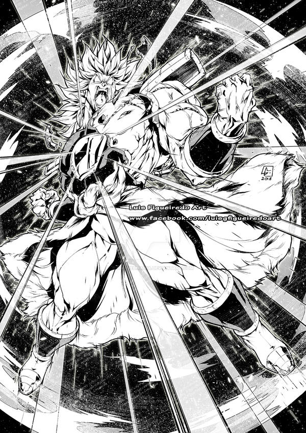 NEW BROLY SS2 Commission by marvelmania