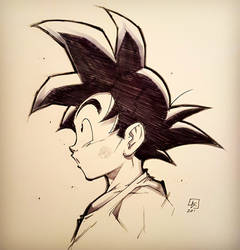 GOKU from DRAGON BALL commission by marvelmania