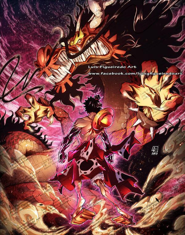 Luffy Samurai Mode Vs Kaido Dragon Form By Marvelmania