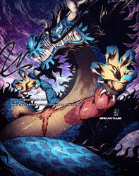 Kaido Dragon Transformation blue