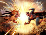 SAITAMA (OnePunchMan) vs SUPERMAN (DcComics)