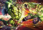 W.W.HULK (Marvel) vs BROLY(DB)