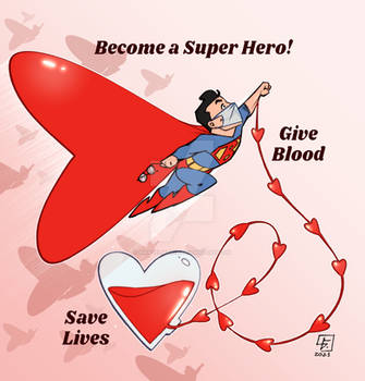 Superman Give Blood Save Lives