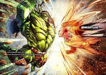 W. W. HULK (Marvel) vs SAITAMA (Onepunchman)