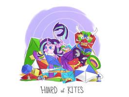 Hoard of Kites by GrimPonka