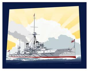 HMS Dreadnought by MercenaryGraphics