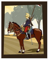 12th Dragoon 1914 portrait by MercenaryGraphics