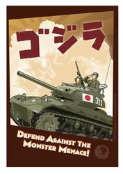 M24 Chaffee Gojira by MercenaryGraphics