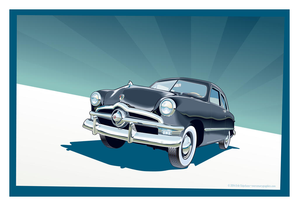 1950 Ford Coupe by MercenaryGraphics