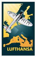Lufthansa Poster by MercenaryGraphics