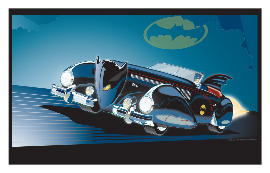 Batmobile Art Deco by MercenaryGraphics