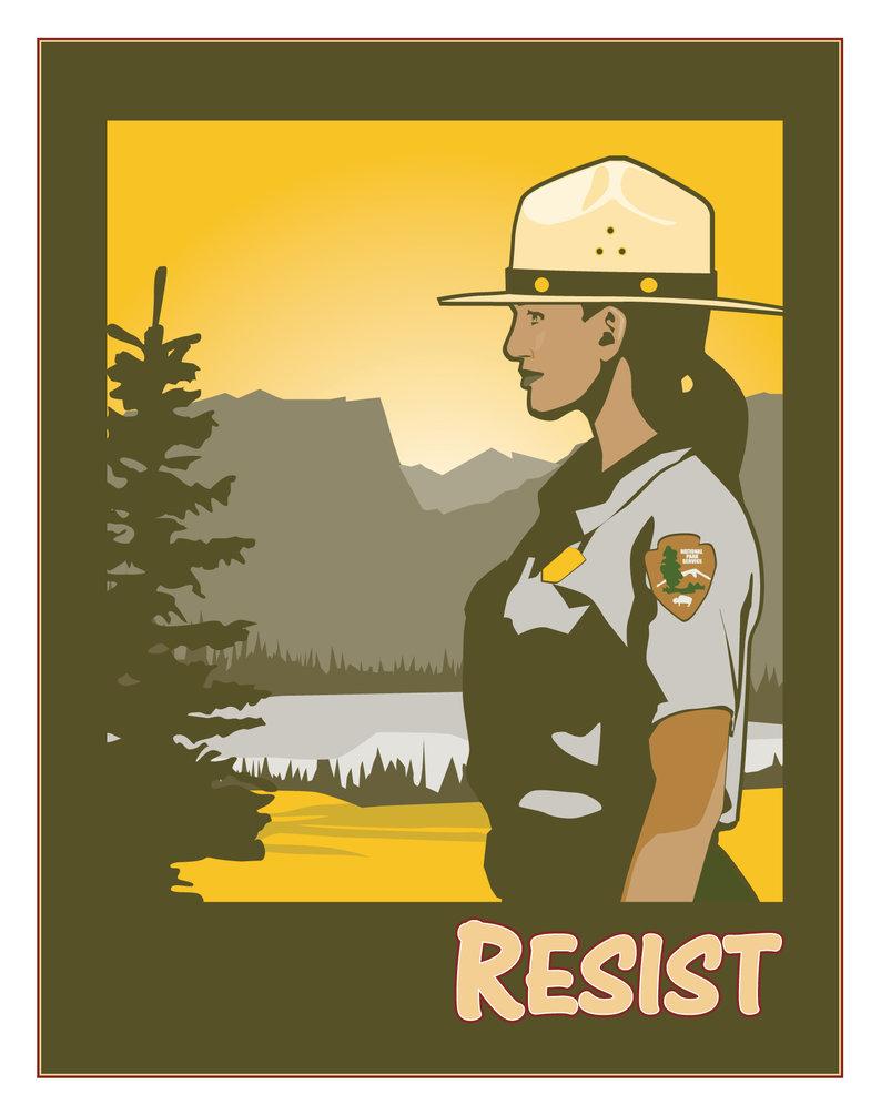 National Park Ranger Resist by MercenaryGraphics