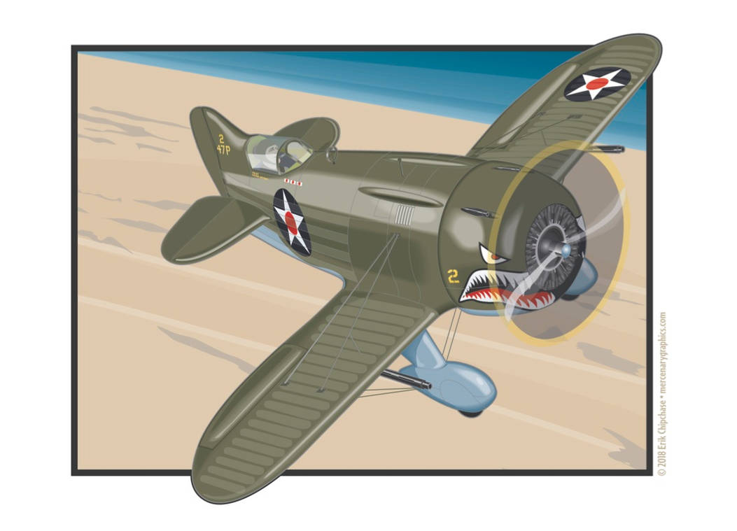 Gee-Bee P-45 Banner by MercenaryGraphics