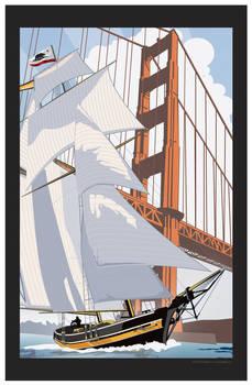 Schooner Sailing in the Golden Gate