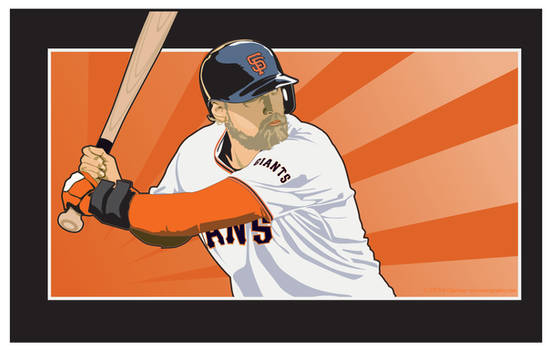 Hunter Pence San Francisco Giants by MercenaryGraphics