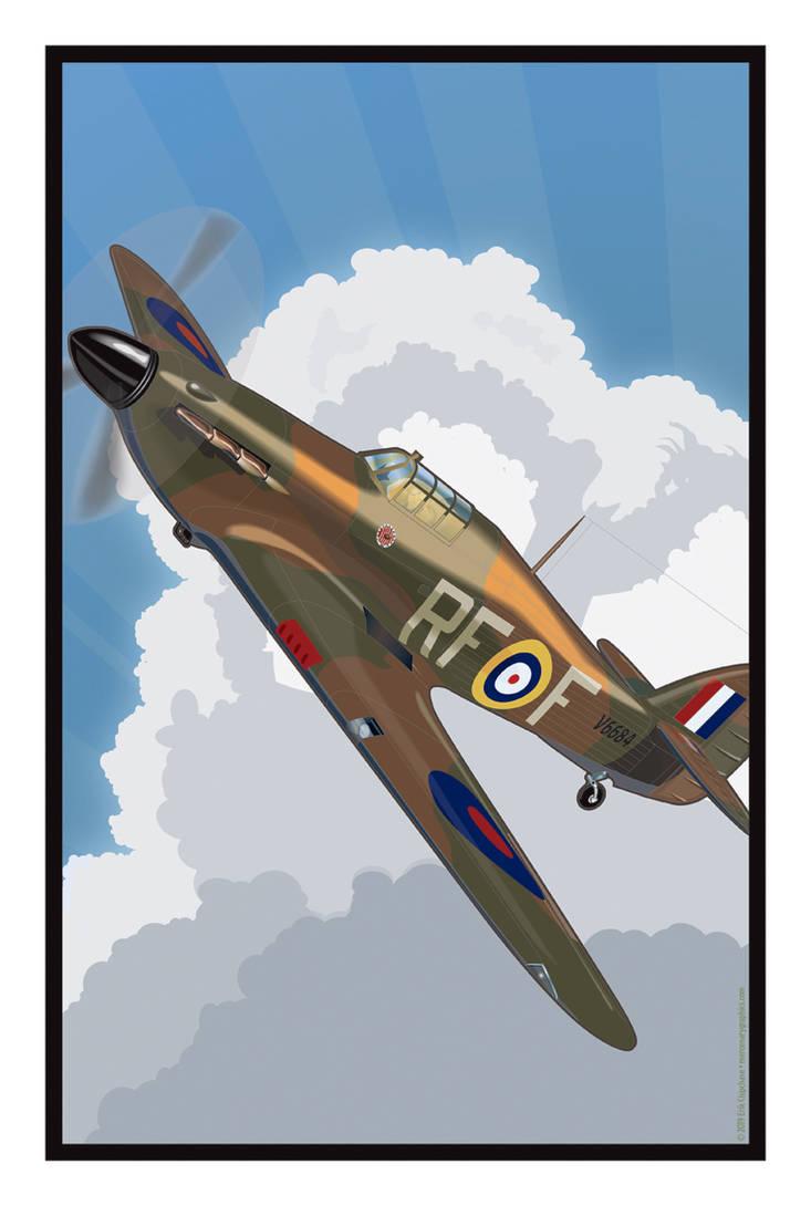 Hawker Hurricane 303 Squadron by MercenaryGraphics