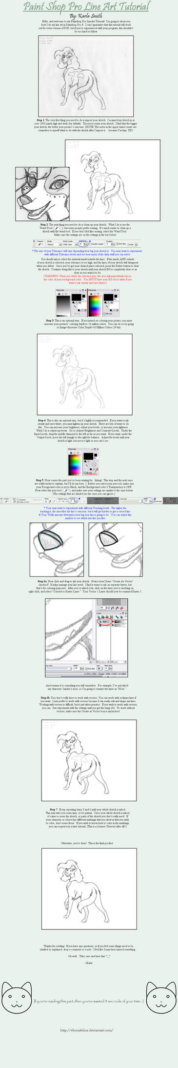 PaintShop Pro LineArt Tutorial by FantaTara