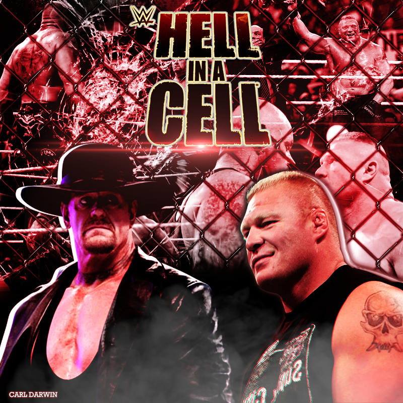 Hell in a Cell 2015 Undertaker vs Brock Lesnar by CarlDarwin