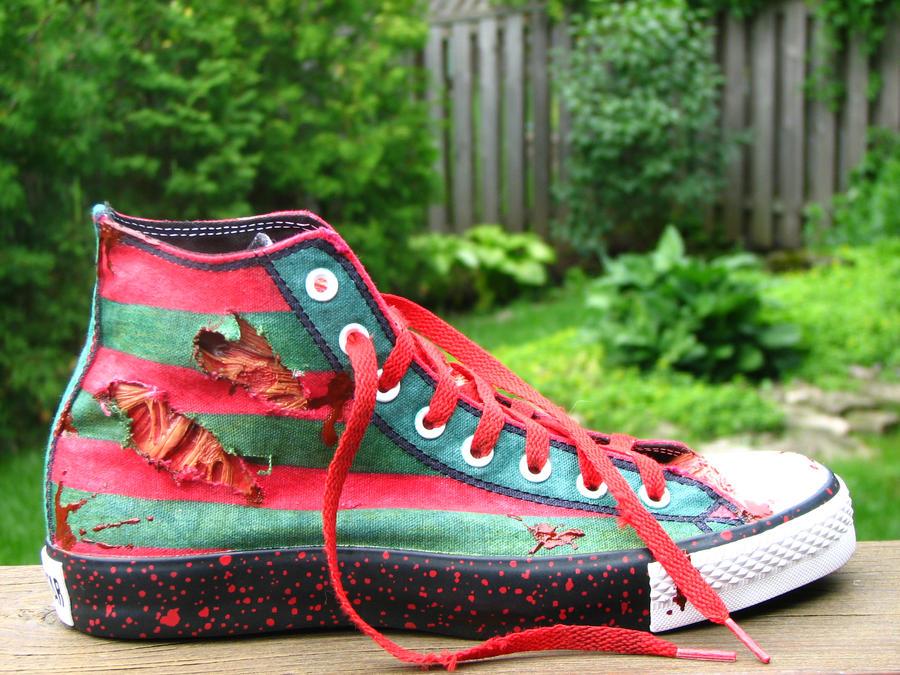 Freddy Krueger Custom Converse by GilliganFonzarelli