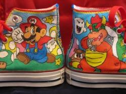 Super Mario Custom Converse by GilliganFonzarelli