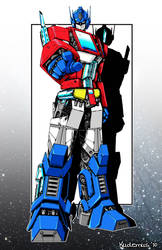 optimus prime with color