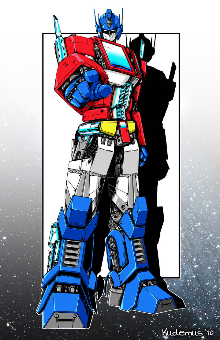 optimus prime with color by xyxuz on DeviantArt