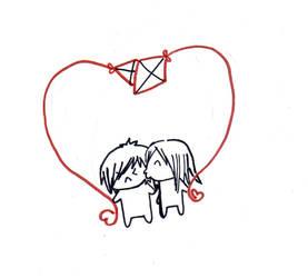 Kites only make hearts, by RaiEatsBabies