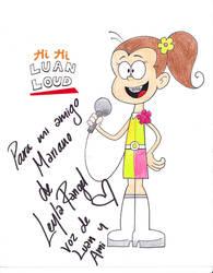 Hi Hi Luan Loud - (firmado por Leyla!) by MarkDekaBreak
