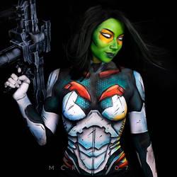Gamora Armoured Bodypaint
