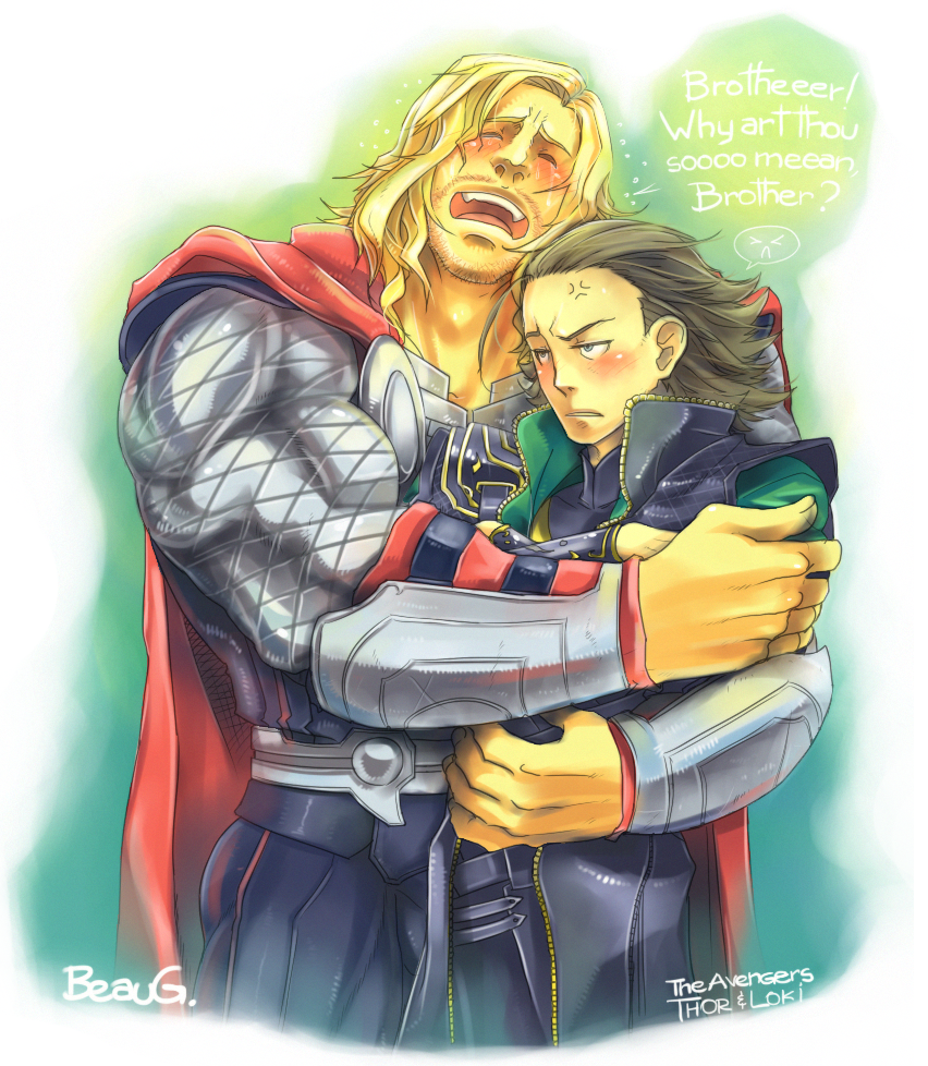 + Thor and Loki + by BoGilliam