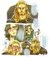 + Thor hugs Loki + by BoGilliam