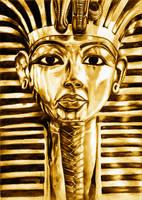 The Mask of Tutankhamun by Shekhina