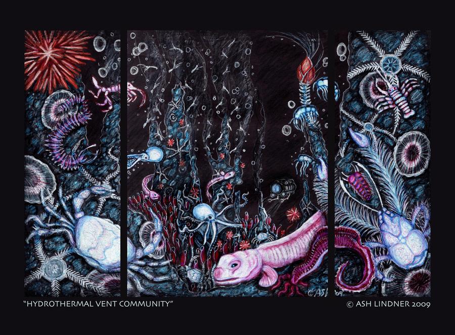 Hydrothermal Vent Community by SpacerHunterZORG