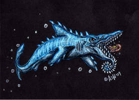 Helicoprion Shark by SpacerHunterZORG