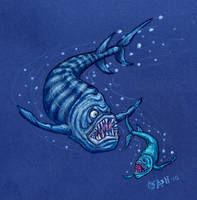 Xiphactinus Chasing a Gillicus by SpacerHunterZORG