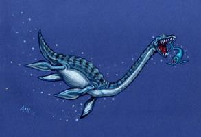 Styxosaurus Spots a Gillicus by SpacerHunterZORG